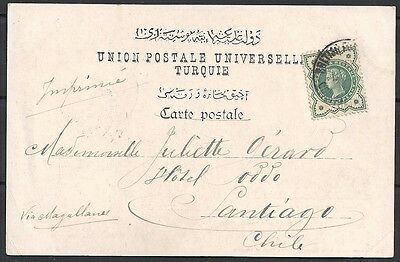 British Levant covers 1901 PPC Constantinople SANTIAGO