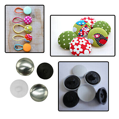 50pcs Prime black and white Buttons Blanks Molds Alloy Tops Back for Covered