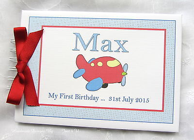 Personalised Baby Boy First1st Birthday Guest Book Photo Album