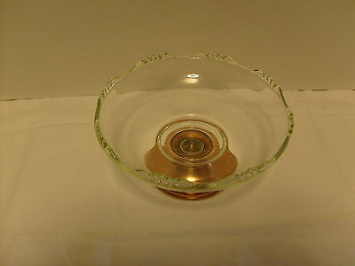 Princess House Candy dish with copper base,