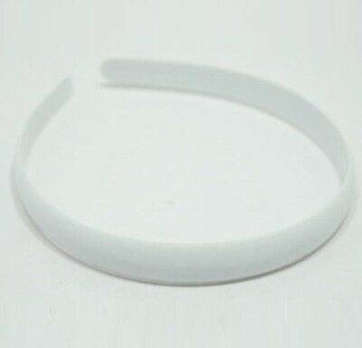 Wholesale LOT HEADBAND PLASTIC NO TEETH HAIRBAND 15mm HAIR ACCESSORIES WHITE DIY