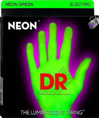 DR Neon GREEN Electric Guitar Strings 10-46 MEDIUM