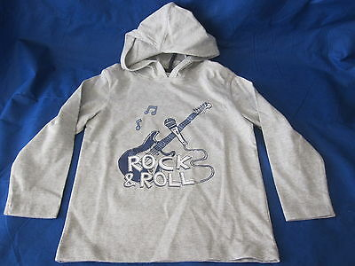 Baby Boy the little white company LONDON Hoodie Jacket Grey Rock&Roll NWT