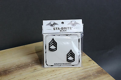 New E-7 SFC Sergeant First Class Pin-On Rank Insignia Submetal Sta-Black, E7