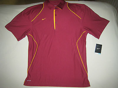 f3f4ffe7a Nike Cardinal Gold Coaches Polo Men's Large Usc Trojans Great For Game Day