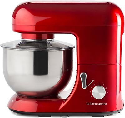 Andrew James 5.2L Electric Food Stand Mixer & Food Guard In Stunning Red 800W