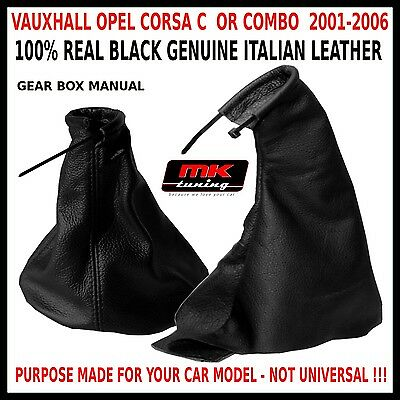 Vauxhall Opel 2001-06 Corsa C Combo Handbrake Gear Stick Cover Gaiter Leather