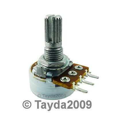 2 x 100K OHM C100K 100KC Anti-Log Taper Potentiometer - Free Shipping