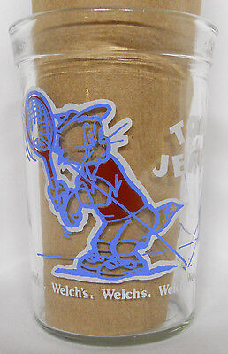 VINTAGE! 1992 Welch's Tom & Jerry Jelly Glass-Tennis