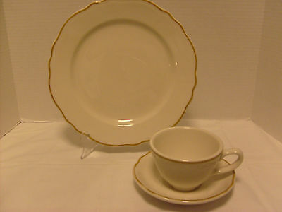 Homer Laughlin BROWN LINE, Restaurant Ware, 3 PCS Place Setting, USA Made
