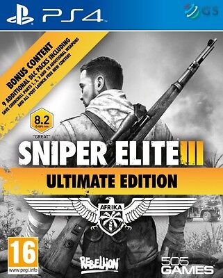 Sniper Elite III 3 Ultimate Edition PS4 * NEW SEALED PAL *