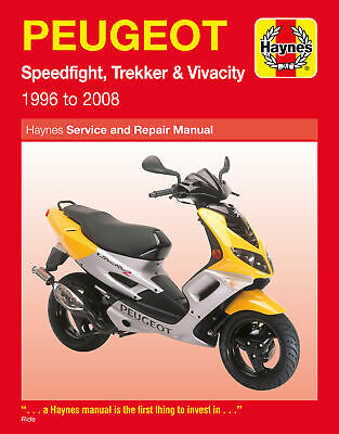 New Haynes Manual Peugeot Speedfight 2 (50Cc) (L/c) (Front Disc & Rear) 2001
