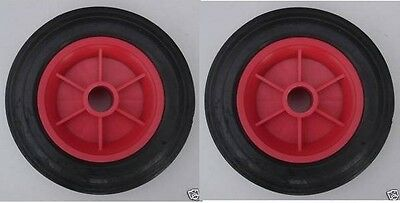 """Sack Truck Wheel 7.5"""" (Made In U.K) Replacement Wheel Solid Tyre ( Pack Of 2 )"""