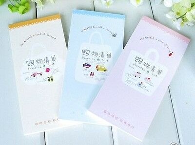 Lovely Shopping List Memo Note Pad Account Notebook