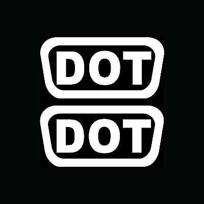 2X DOT STICKERS Helmet Vinyl Decals Pack Shipping D O T  Motorcycle