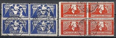 Netherlands stamps 1923 NVPH 134-135 Blocs of 4  CANC