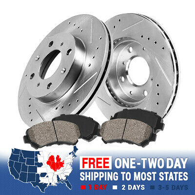 Front 262 mm Brake Rotors and Ceramic Pads CIVIC COUPE SEDAN HATCHBACK INSIGHT