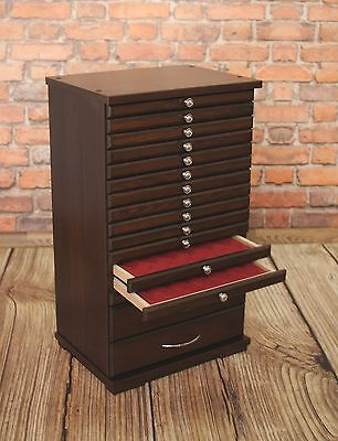 COIN TRAY COLLECTION CABINET FOR 14+2 TRAYS COLLECTOR- Made of furniture board