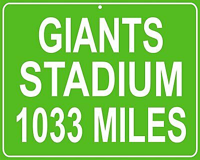 Super Bowl Champs New York Giants old Giants Stadium Hwy Metal sign - your house