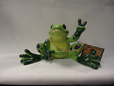 "Peace Frogs ""Go Green Frog"" Figurine"