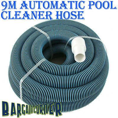 9M Automatic Swimming Pool Cleaner Hose + 2 Swivel End Cuffs Fit Kreepy Krauly