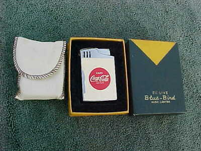 "RARE! Enjoy Coca Cola Musical Blue Bird Deluxe Cigarette Lighter Plays ""Dixie"""