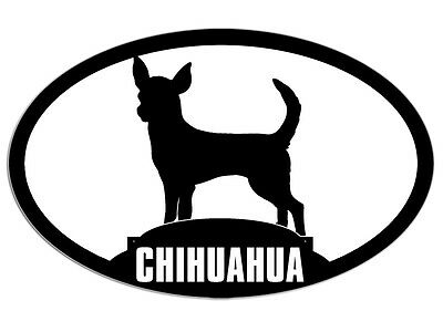 3x5 Oval CHIHUAHUA Sticker - decal dog breed pet animal mexico mexican small