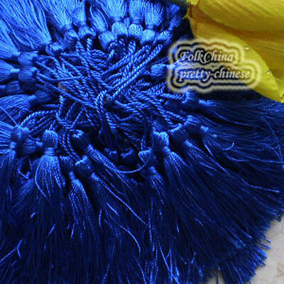 Blue 12cm Tassel Craft Sewing Curtains Trimming Embellishment T7