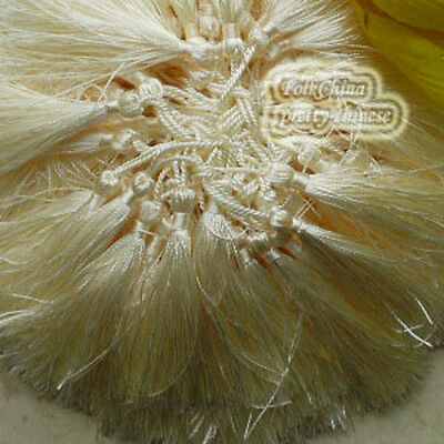 Ivory 12cm Tassel Craft Sewing Curtains Trimming Embellishment T5