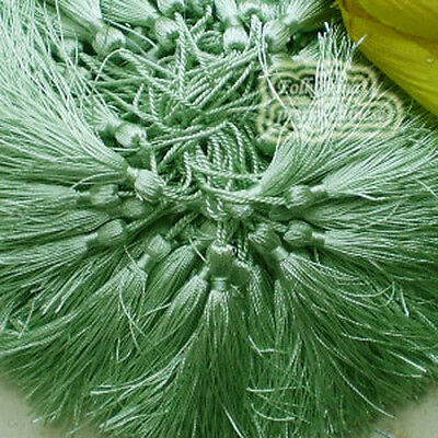Light Green 12cm Tassel Craft Sewing Curtains Trimming Embellishment T17