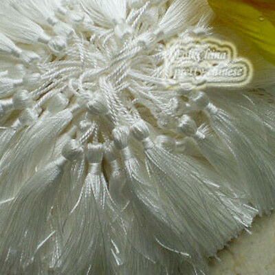 White 12cm Tassel Craft Sewing Curtains Trimming Embellishment T3