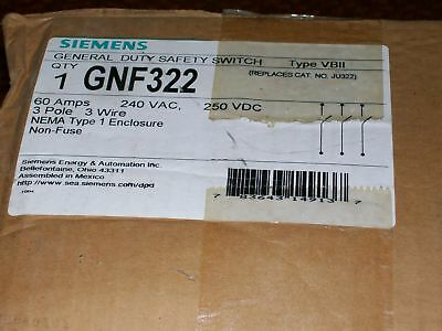 Siemens Gnf322 Non-Fusible General Duty Safety Switch