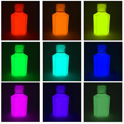 30ml Glow In The Dark Luminescent Luminous paint - Choose a colour - 30ml size