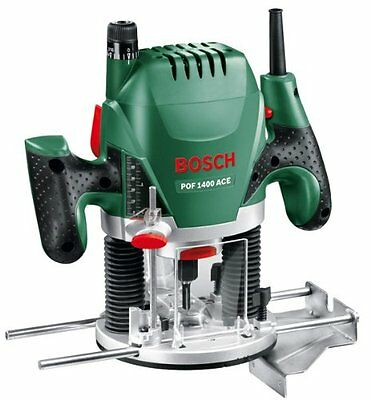 Bosch POF 1400 ACE Router with light, dust extractio, accurate to 1/10 mm. NEW