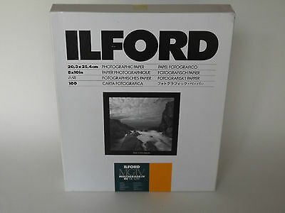 ILFORD MGIV RC DELUXE 8x10 SATIN 100 DARKROOM PAPER