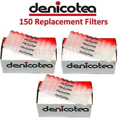 150 Denicotea Replacement Cigarette Filters for Holders - D10106