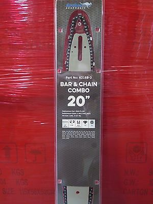 "Archer chainsaw 20"" bar and chain combo WITH 2 CHAINS suit STIHL 3/8 72DL"