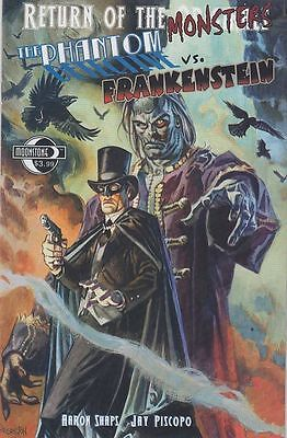 Return O/t Monsters: Phantom Detective Vs Frankenstein (Moonstone) Free Uk P+P!