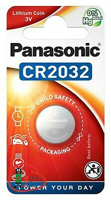 2 x Panasonic CR2032 3V Lithium Power Knopfzelle