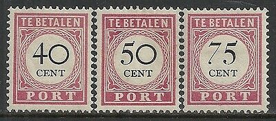 Netherland Indies stamps 1892 NVPH Due 20-22  MLH  VF