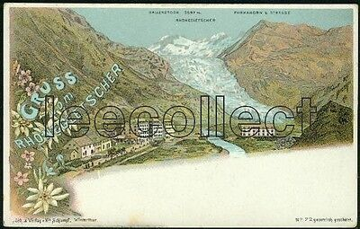 VS Gletsch - Rhonegletscher - Litho