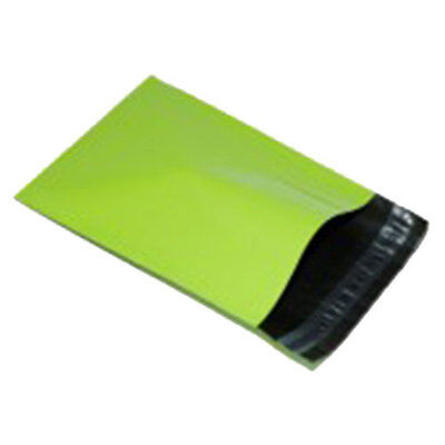 """250 Neon Green 14"""" x 20"""" Mailing Postage Postal Mail Bags"""