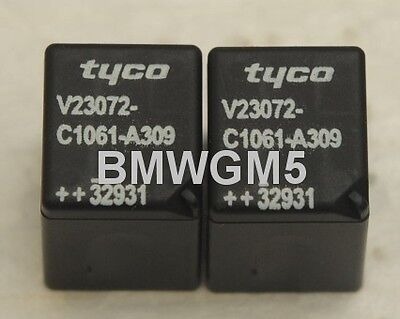 Qty 2 Tyco V23072-C1061-A309 Relay for BMW GM3 Modules