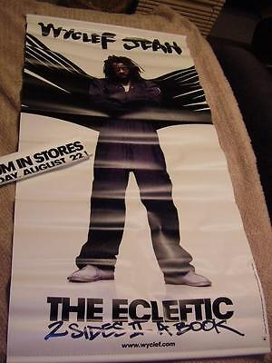 Wyclef Jean *BIG 4-Foot Vinyl The Eclectic 2 Sides II A Book Retail Banner!