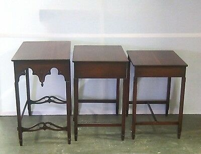 Set Of 3 Walnut Stack Table