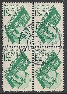 Netherlands stamps 1931 NVPH 238 Bloc of 4  CANC  VF