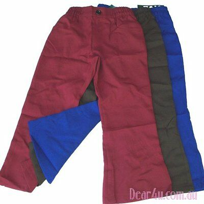 New School Uniform girls bootleg pants Royal blue brown maroon 5-12