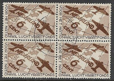 Netherlands stamps 1935 NVPH 278 Bloc of 4  CANC  VF