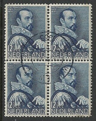 Netherlands stamps 1935 NVPH 277 Bloc of 4  CANC  VF