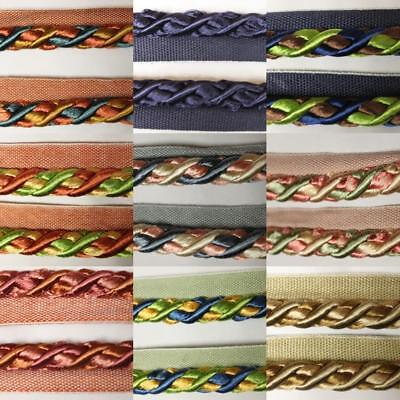 CLEARANCE THICK 12mm Flanged Piping Cord Upholstery Chair Edging Trim BUY 1 2 4m